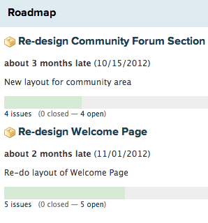 Roadmap Interface